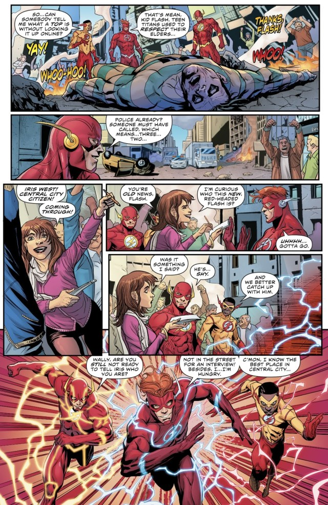 3 Flashes VS The Top (The Flash Vol. 5 Annual #1)
