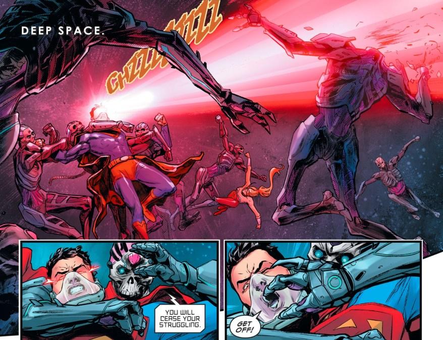 Superboy And Wonder Girl VS Brainiac's Robots (Injustice II)