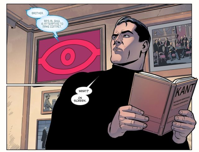 Batman Reading Immanuel Kant (Injustice II)