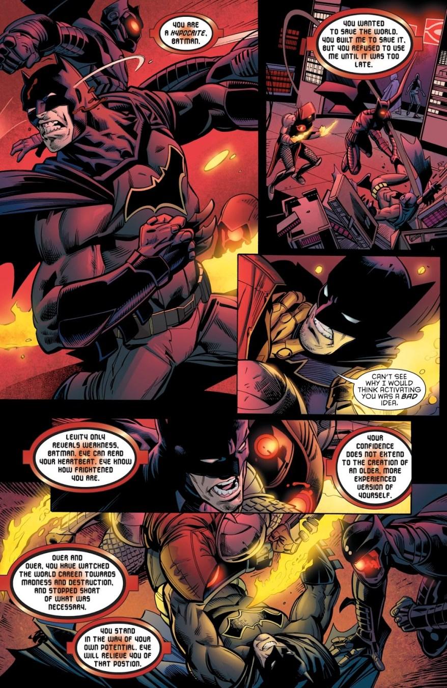 Batman VS OMAC Versions Of Batwing And Azrael