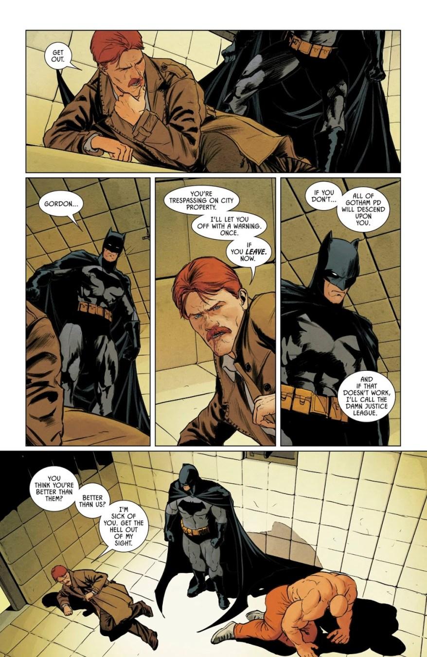 Batman Punches Jim Gordon