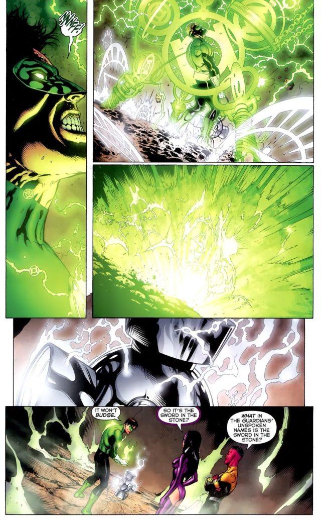 Hal Jordan Lifts The White Lantern Battery