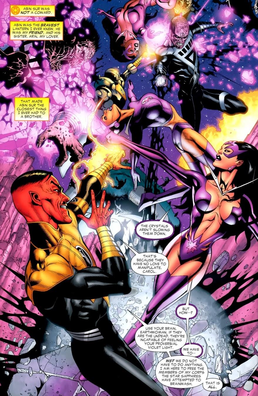 Star Sapphire Carol Ferris And Sinestro (Green Lantern Vol. 4 #46)