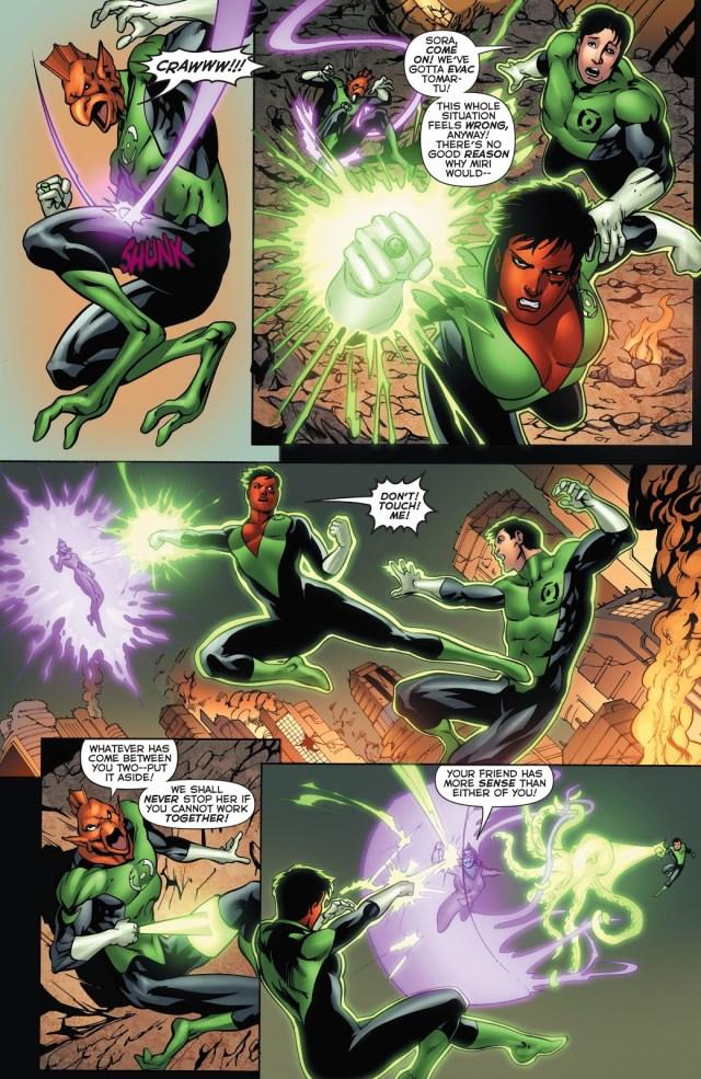 Green Lanterns VS Star Sapphire Miri
