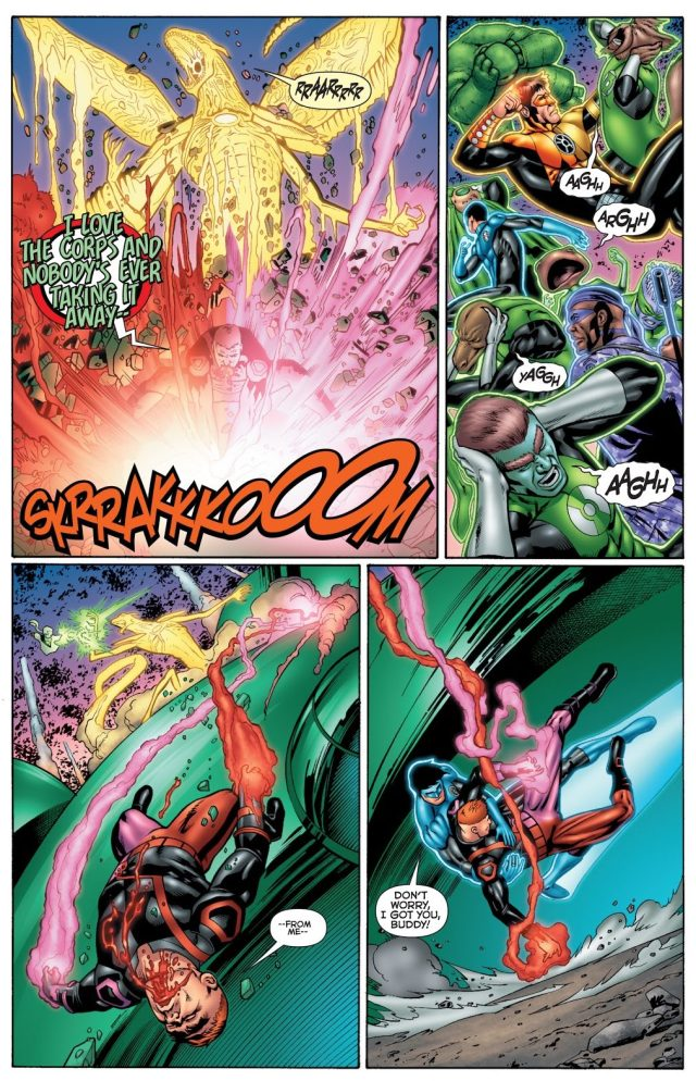 Guy Gardner Wielding A Star Sapphire And Red Ring