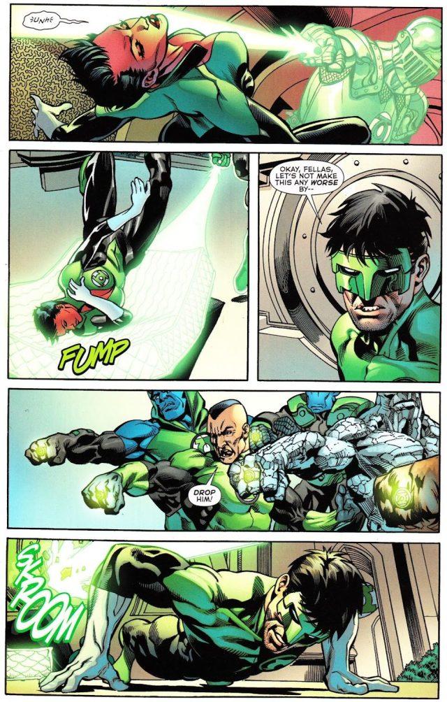 Kyle Rayner VS Soranik Natu (War of the Green Lanterns Aftermath #2)