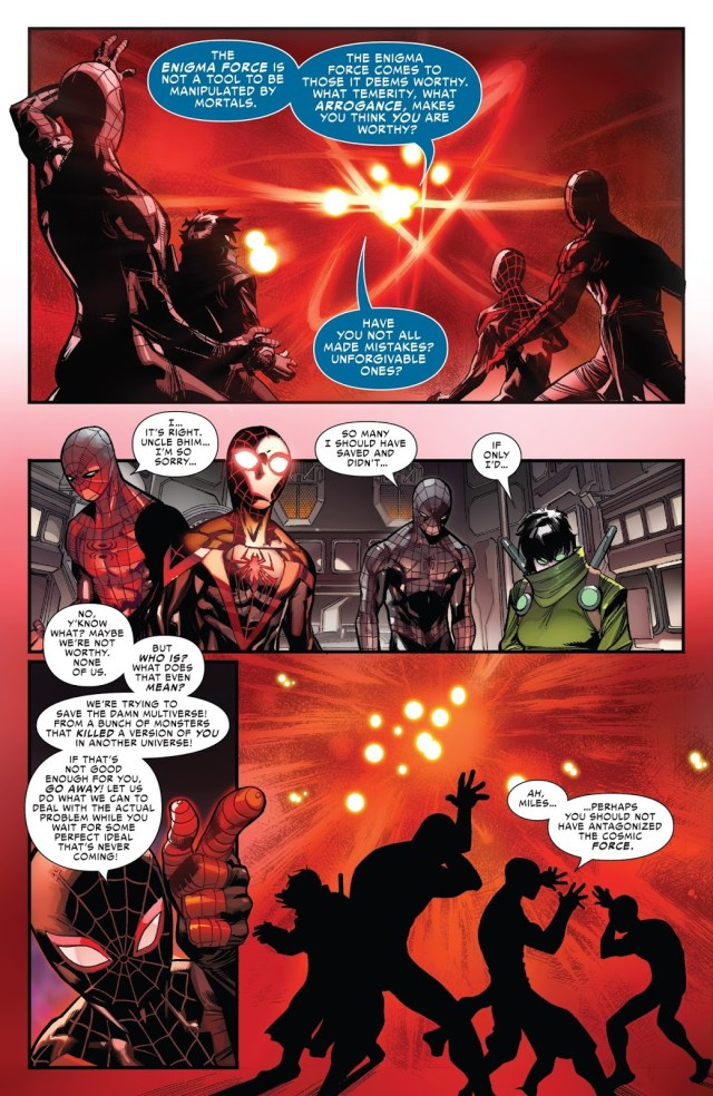Miles Morales Receives The Enigma Force