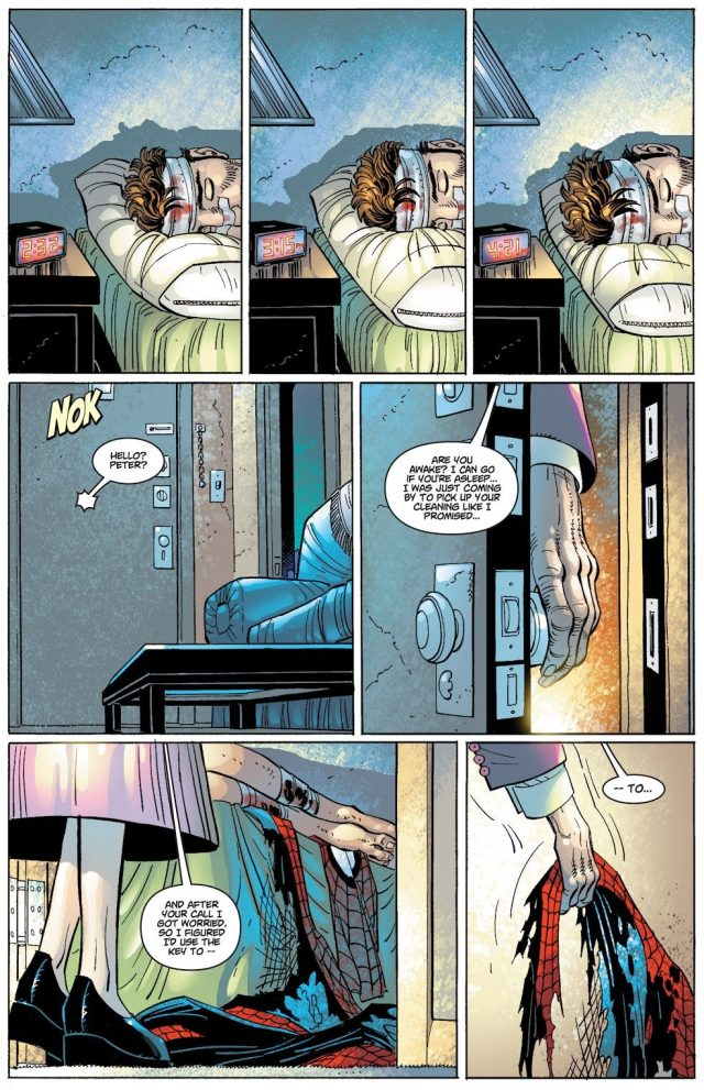 Aunt May Finds Out Peter Parker Is Spider-Man