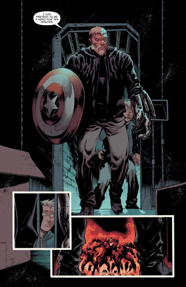 Eddie Brock Wielding Captain America's Shield