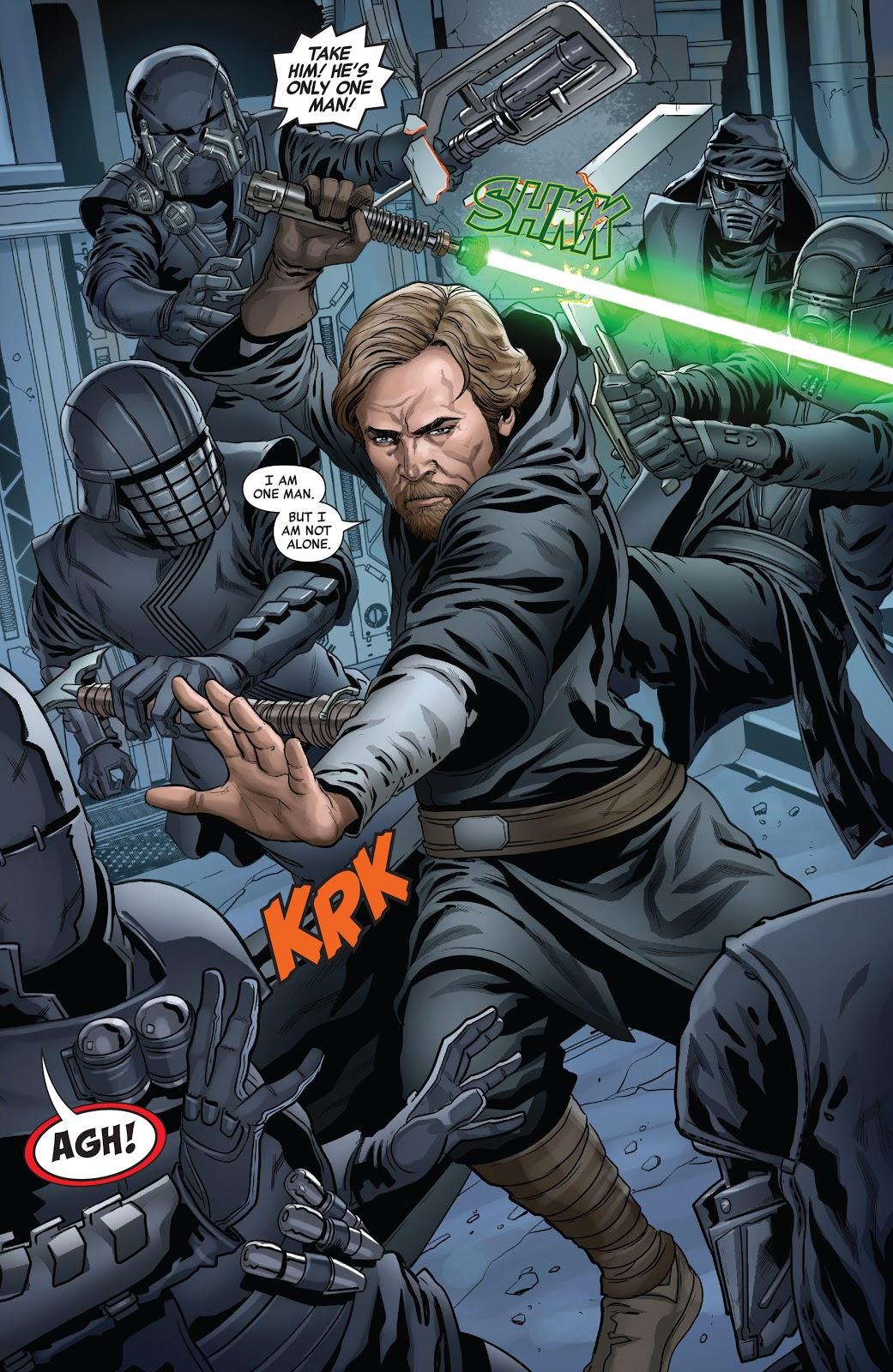Luke Skywalker VS The Knights Of Ren – Comicnewbies