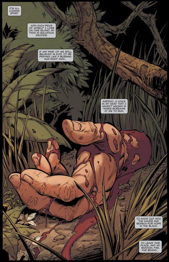 Eddie Brock Cauterizes His Wrist