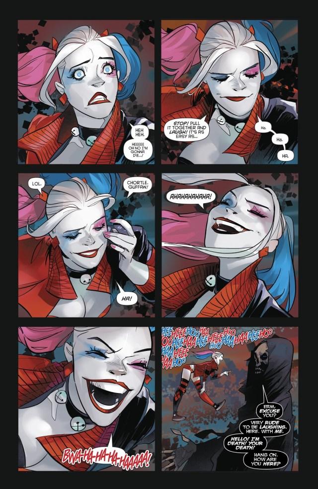 Harley Quinn Laughs At Death