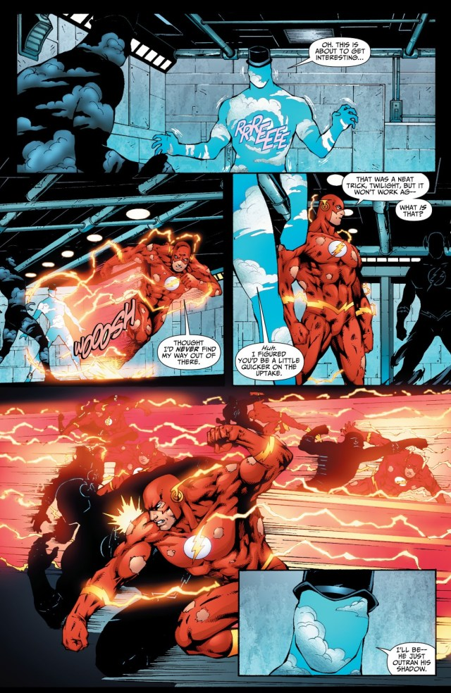 The Flash Can Outrun His Own Shadow