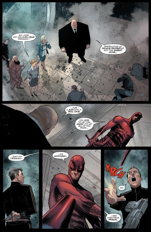 Daredevil Gives Spider-Man A Hug