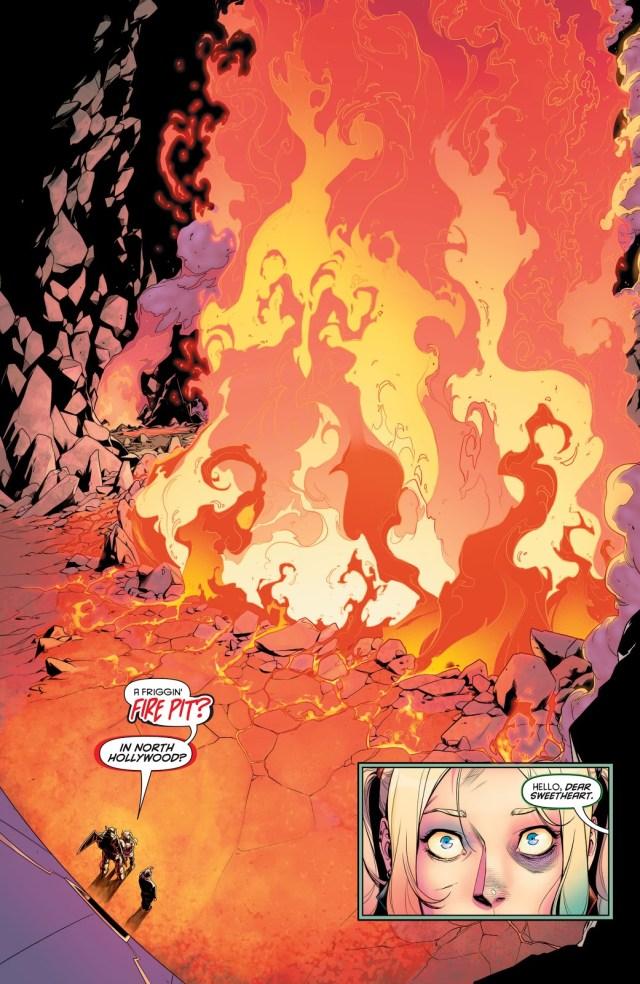 Harley Quinn Destroys A Fire Pit