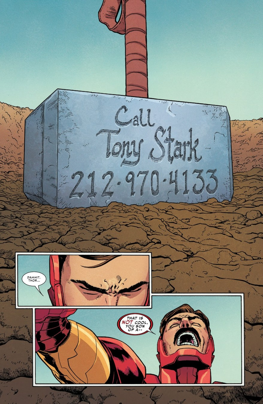 Thor Gives Out Iron Man's Private Number