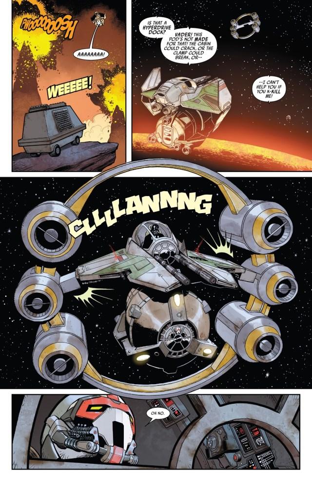 Darth Vader Flying A Jedi Starfighter