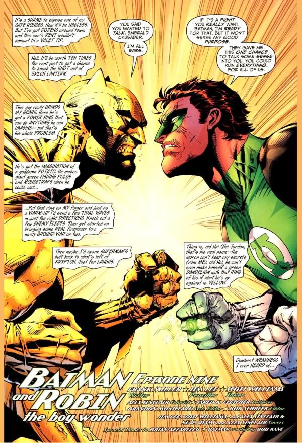 Batman Paints Room Yellow Green Lantern Comicnewbies