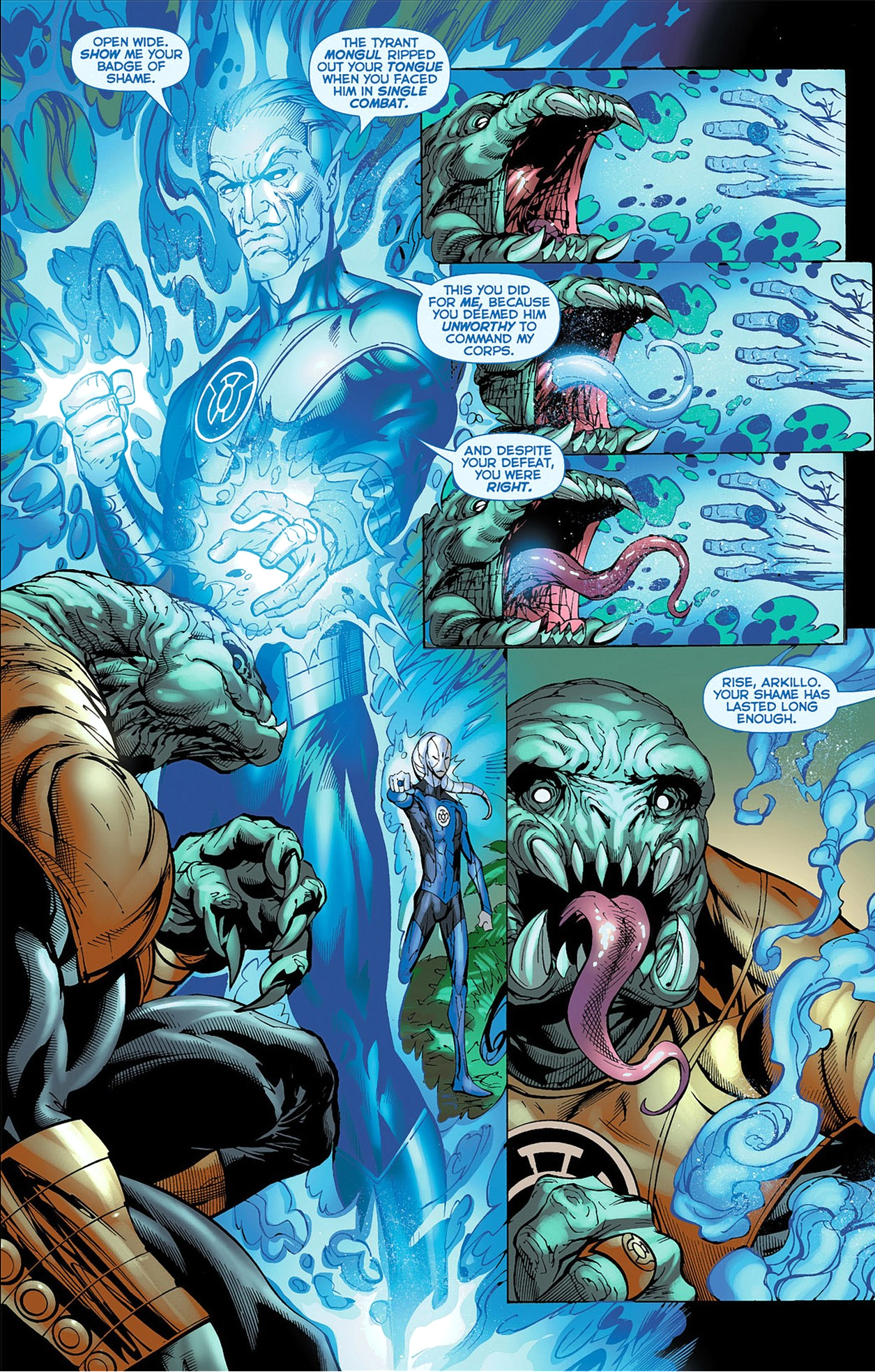 Saint Walker Restores Arkillos Tongue Comicnewbies
