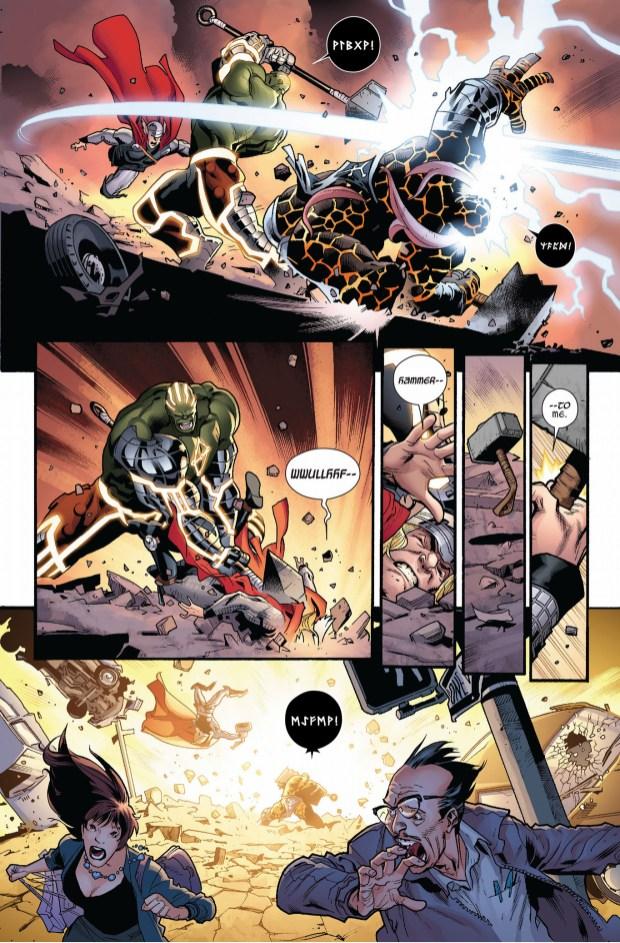 Thor Vs Nul And Angrir Comicnewbies