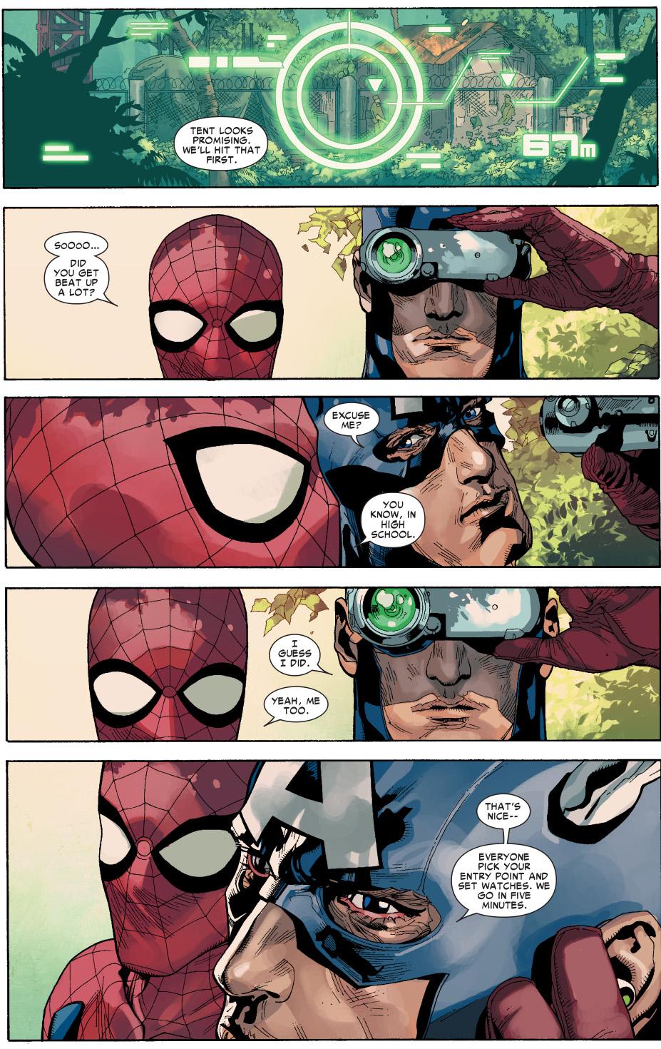 spider man tries to