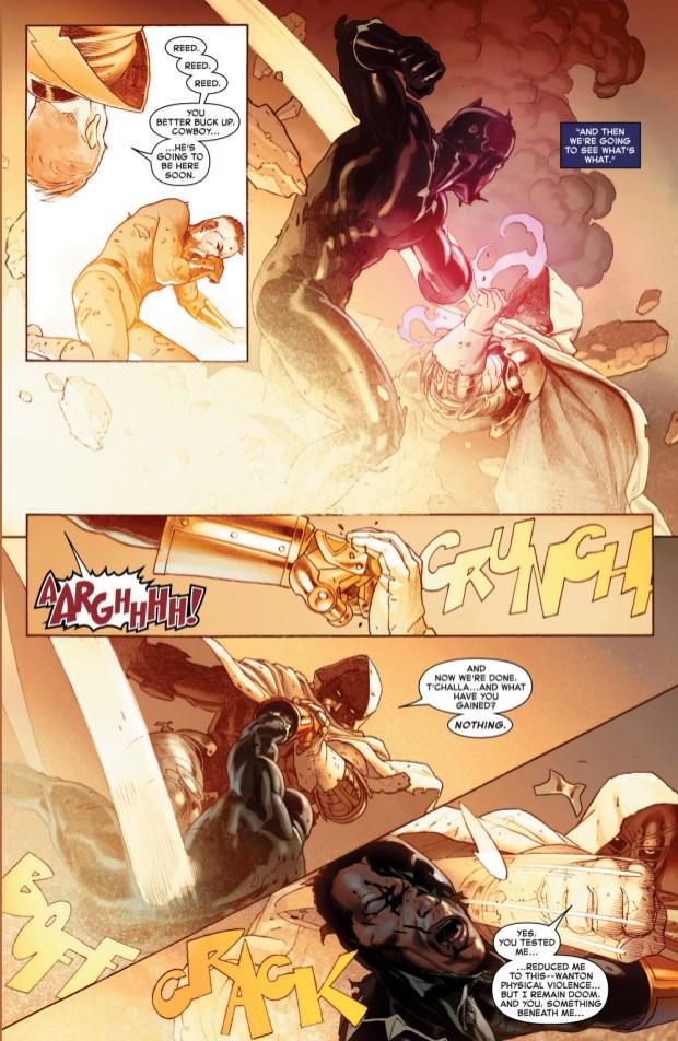 Black Panther And Namor VS Doctor Doom Secret Wars