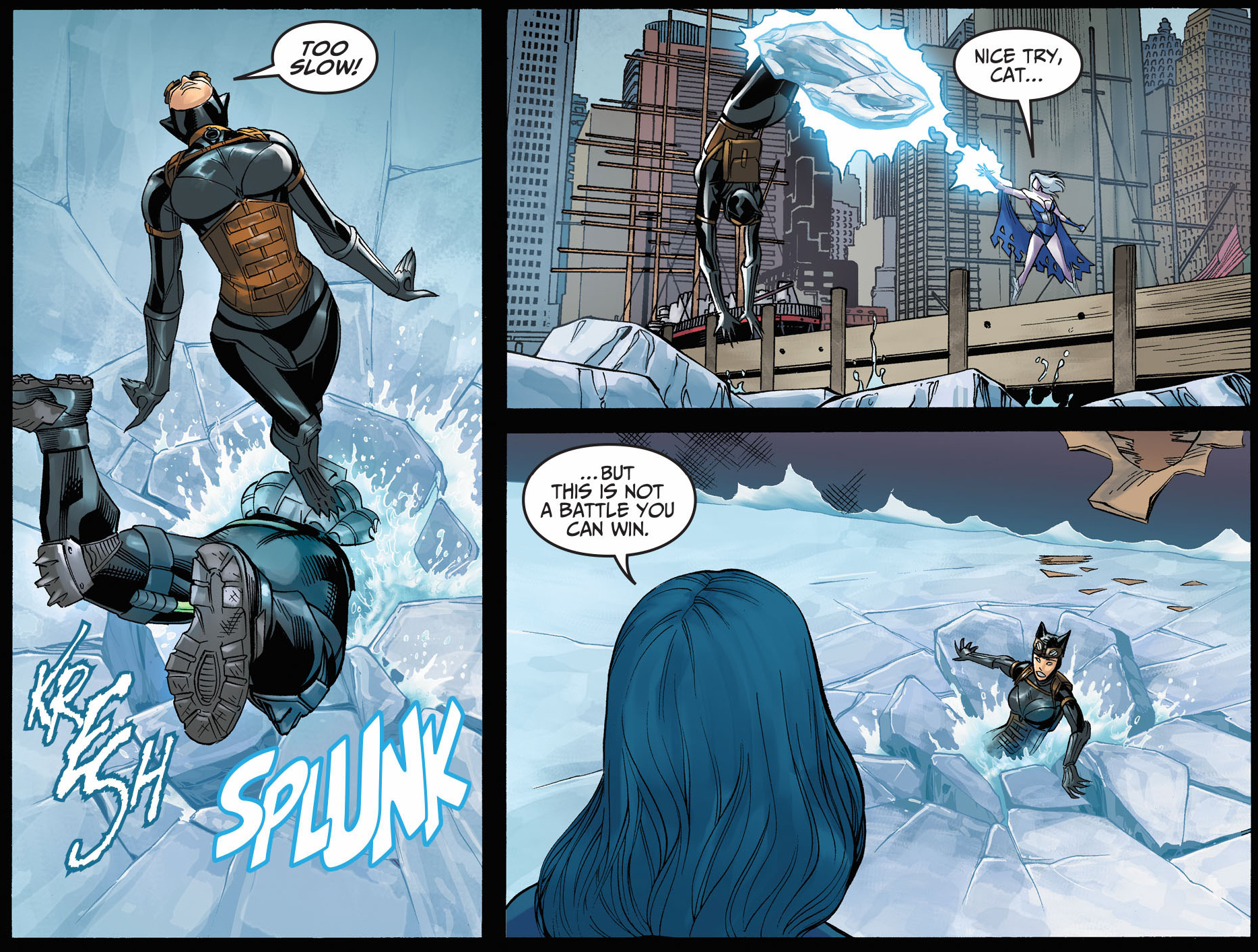 Catwoman VS Bane And Killer Frost Injustice Gods Among Us