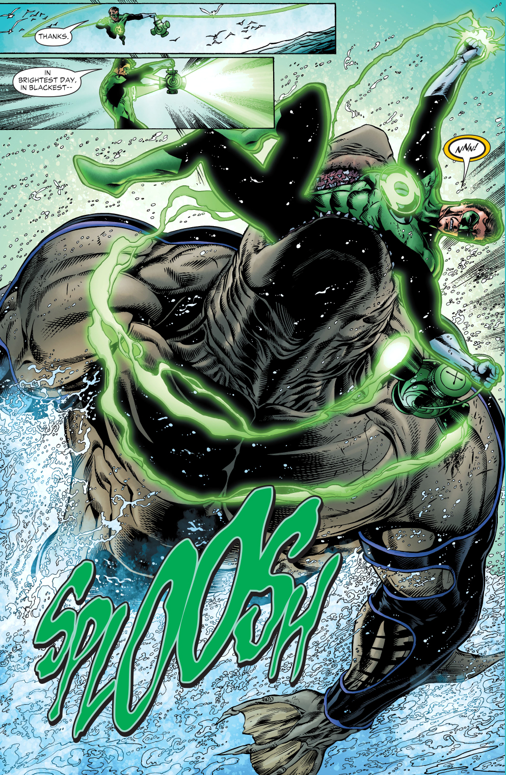 The Shark Takes Out Green Lantern Comicnewbies