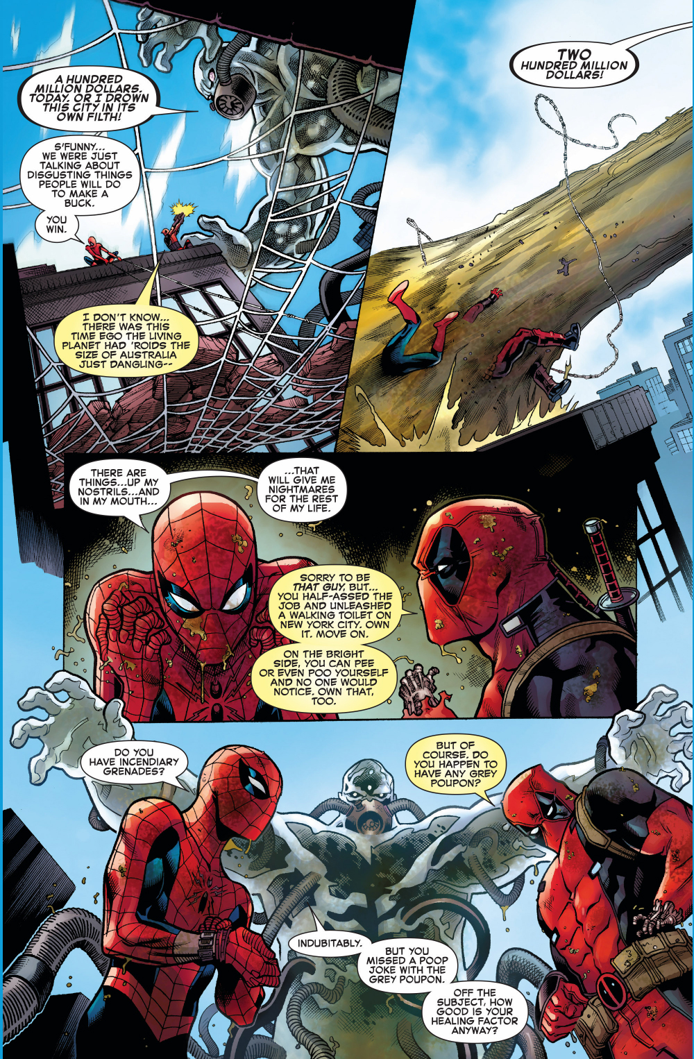 Yoda Wallpaper Quotes Spider Man And Deadpool Vs Hydro Man Comicnewbies