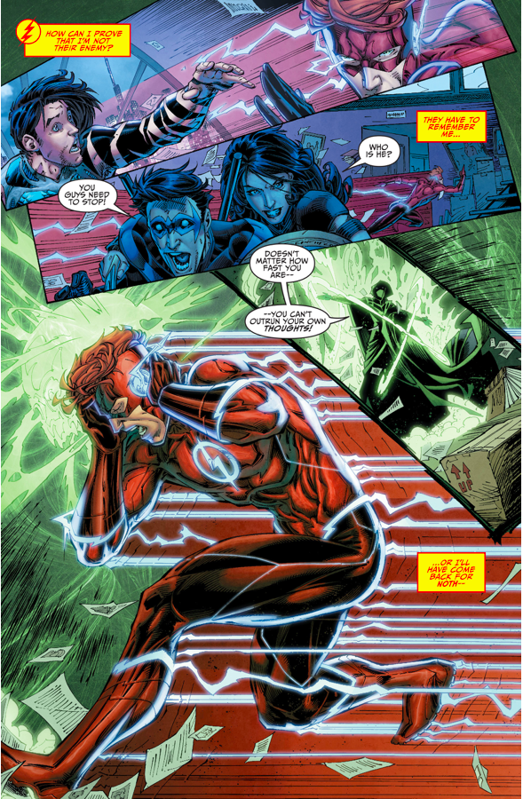the titans attack wally west rebirth