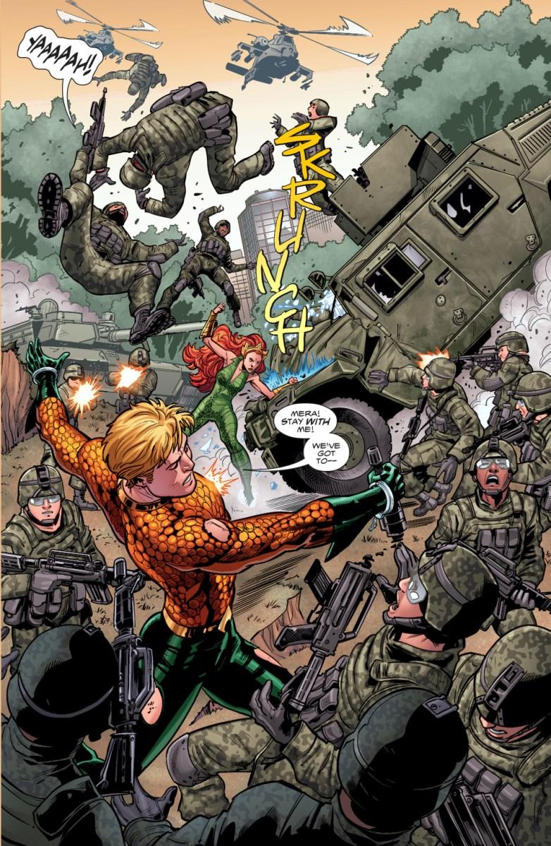 Aquaman And Mera VS The United States Military  Comicnewbies