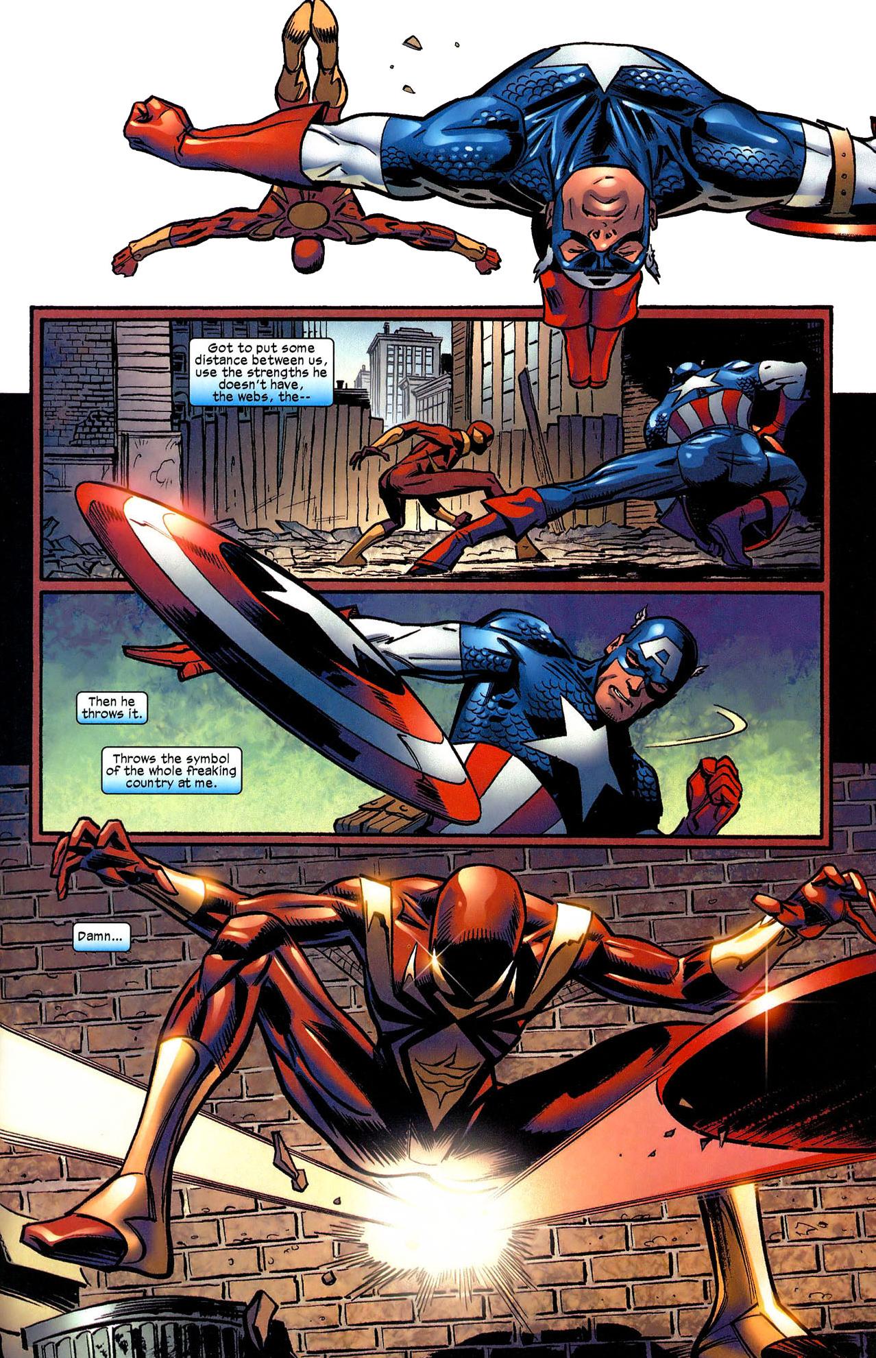 spider man vs captain