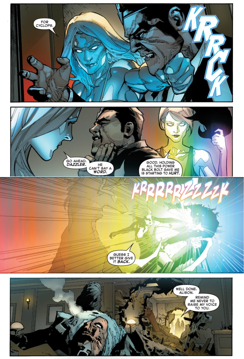 Emma Frost And Dazzler Takes Down Black Bolt IVX