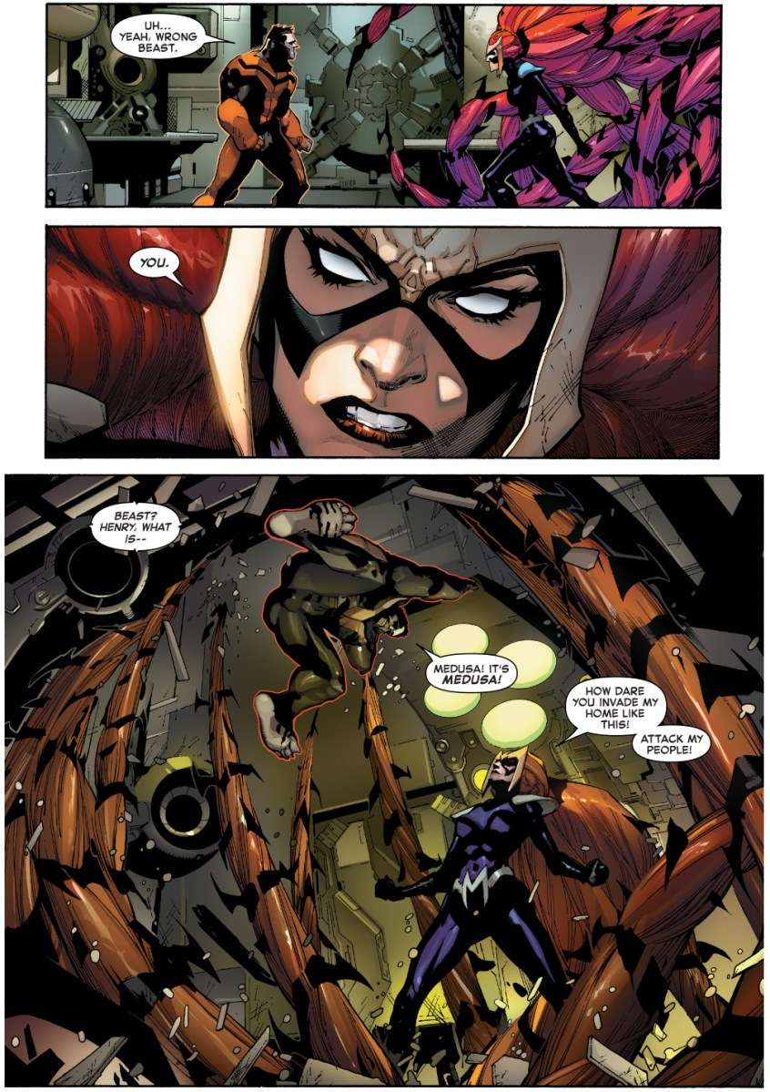 Young Beast VS Medusa IVX Comicnewbies