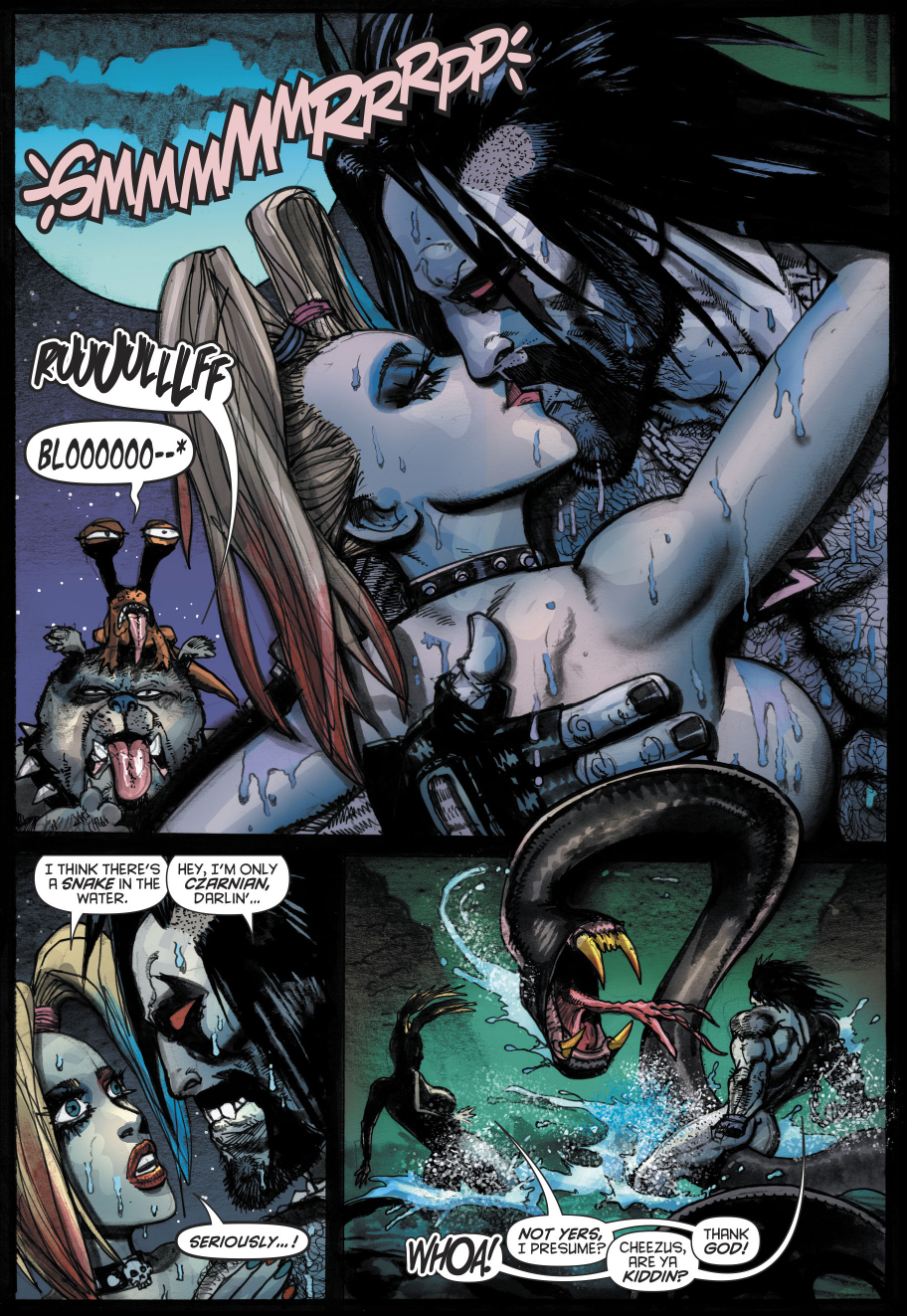 Harley Quinn And Lobo VS A Giant Snake  Comicnewbies