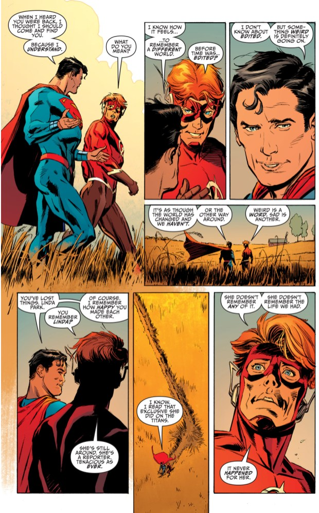 Superman New Earth Remembers Wally West New Earth