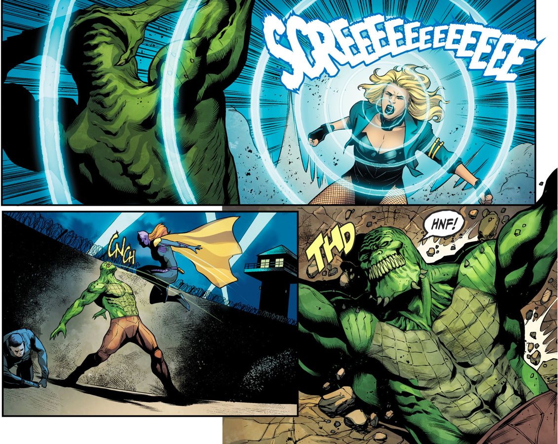 Batgirl Black Canary And Green Arrow VS Killer Croc