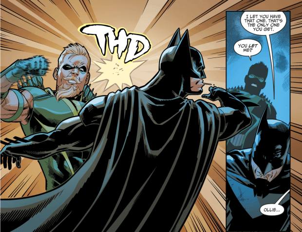 Green Arrow Punches Batman Injustice II Comicnewbies