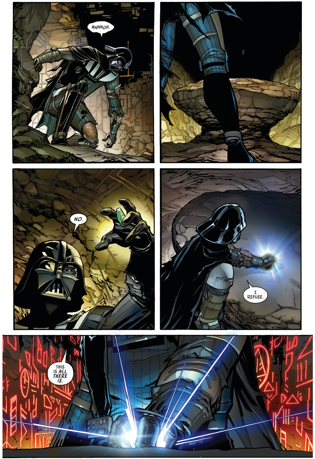 Darth Vader Turns A Lightsaber Crystal Red Comicnewbies