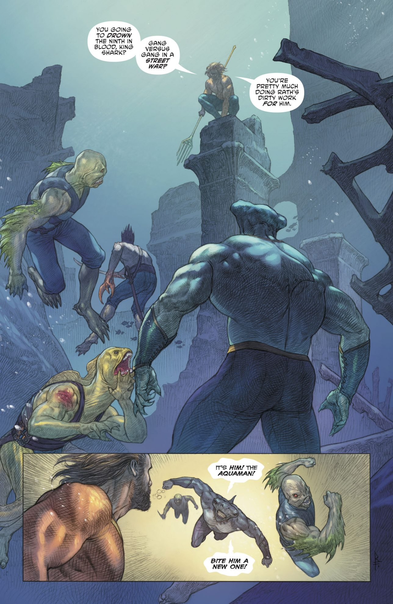 Aquaman Recruits King Shark Comicnewbies