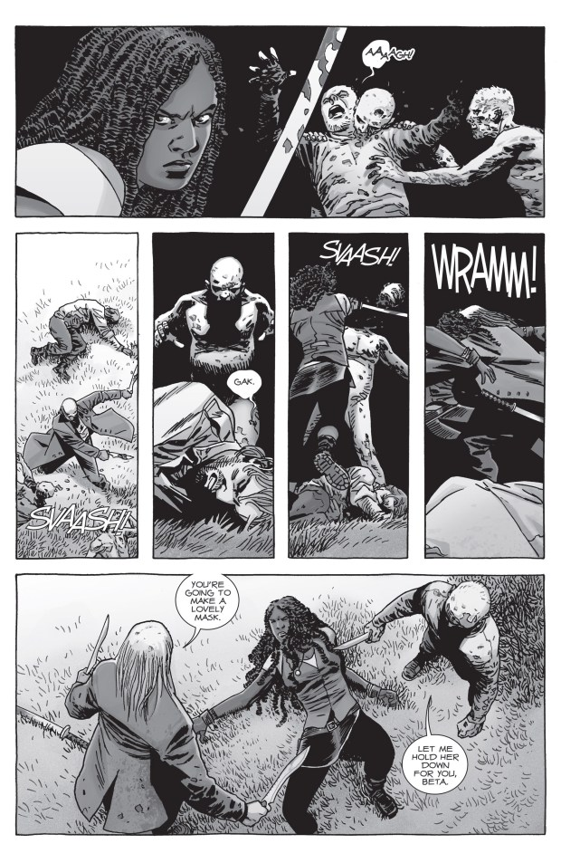 Michonne VS Beta The Walking Dead  Comicnewbies