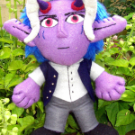 Yoru / Demon Plushie - Front view