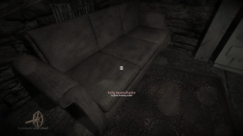 This 'grim-looking sofa' looks awfully appealing compared to stumbling around in the dark, in the pouring rain, with a broken leg. Why can't I rest here until morning?