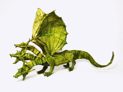 Three-Headed origami Dragon