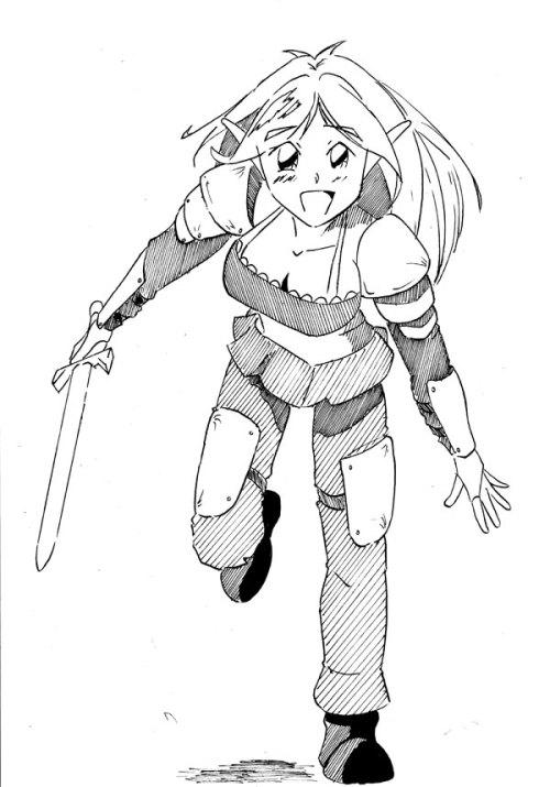 Elf Girl by Mark Egan