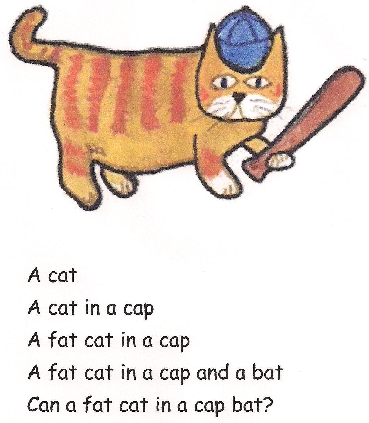 Comic Phonics Cat At Bat