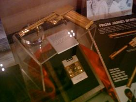 James Bond movie props, clothes, and artifacts