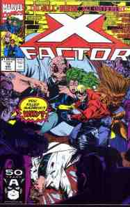 X-Factor comic book cover #72