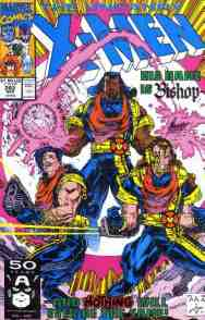 Uncanny X-Men comic book cover #282 (first Bishop on cover)