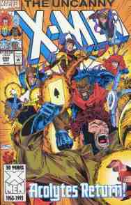 Uncanny X-Men comic book cover #298